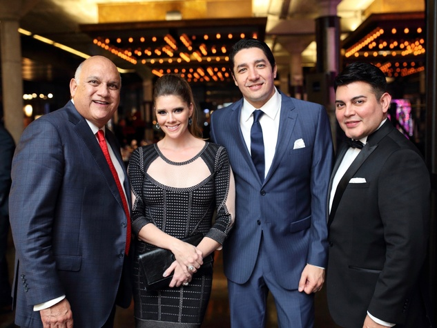 Fred Aguilar, Kirsten Guerra, William Guerra, Edward Sanchez at Stages Gala
