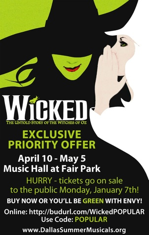 Wicked pre-sale 2012
