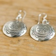 The Silver Soul, Sterling Silver Concho inspired Earrings
