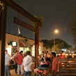 Cottonwood Houston patio at night with people