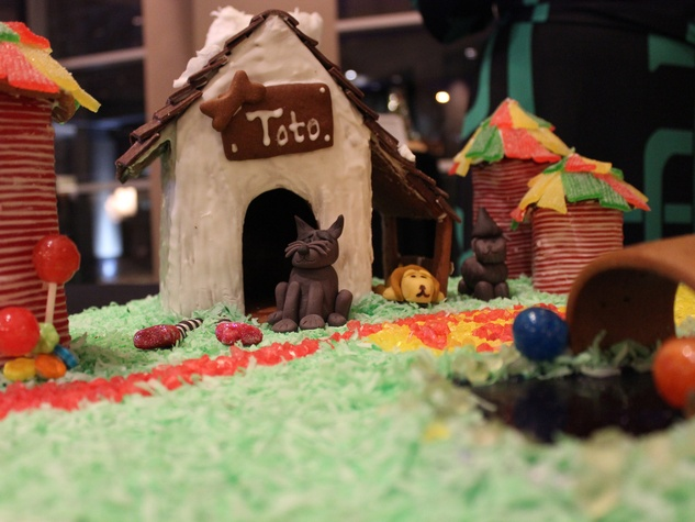 9 Kelsey Hawkins of Osteria Mazzantini entry at the Lucky Dog Gingerbread Doghouse event December 2013