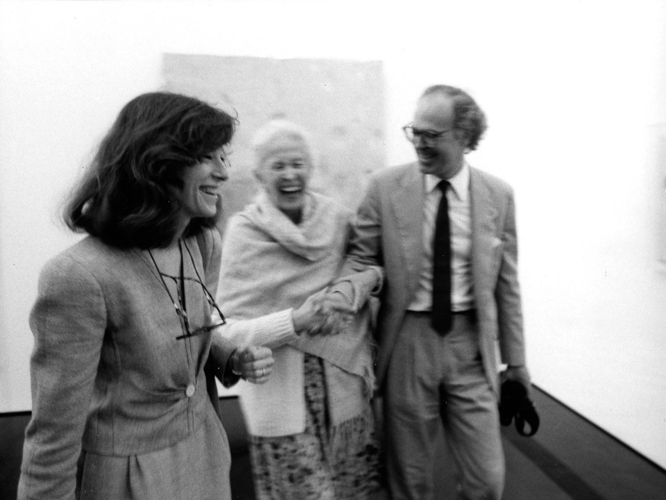 News_31_The Menil Collection opening, June 3, 1987_Susan de Menil_Dominique de Menil_Francois de Menil