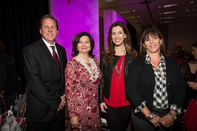 4 Gary Hudgins, from left, Cecilia Campbell, Natasha Barrett and Liz Ambriz at the Nutcracker Market Macy's luncheon November 2014