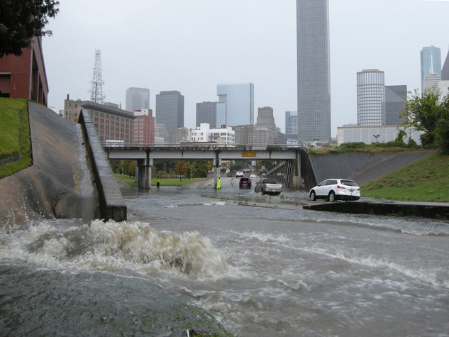 1 flooding near University of Houston Downtown October 2013