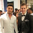 Kevin Weeks, left, and Weston Wayne at the Suitsupply Houston grand opening party December 2013