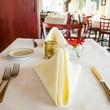 Sagra restaurant Austin Italian interior place setting table plate