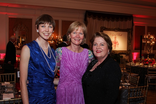 Sydney Dittman, from left, Terry Huffington and Myrteel Ward at the Huffington Center on Aging Gala November 2013