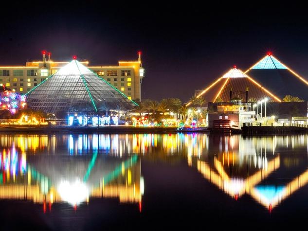 Moody Gardens, Galveston, Festival of Lights, November 2012