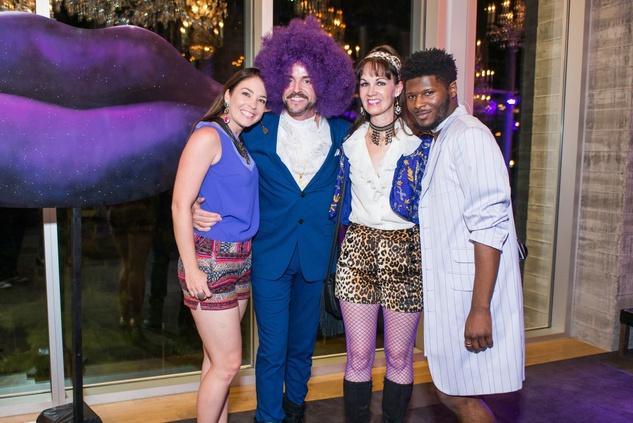Purple party, Jaquel Andrews, Fritz McDonald, Beth Muecke, Joubaier Joubert