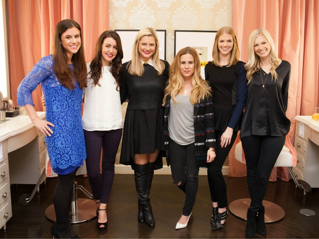 Haley Schultheis, Amy Havins, Mary Summers, Lynsey Eaton, Molly Miller, Sally Miller, Blushington event