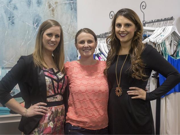 Caitlyn Mullanix, Kari Zerbe, Chelsea Brogdon, Chantilly Charity Shopping Event