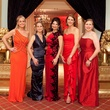 2 Amy Dunn, from left, Catherine Smith, Whitney Walsh, Jennifer Daly and Katie Mears at the Junior League of Houston Charity Ball February 2014