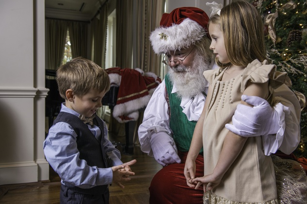 2 Carsten Tanner and Brinnley Tanner with Santa at the Houston Symphony Magical Morning December 2014