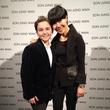 Sam Horowitz and Son Jung Wan backstage at New York Fashion Week