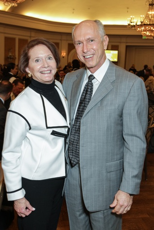 Sallie Morian and Michael Clark at the MS Society luncheon March 2015