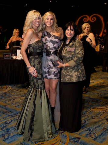 Marissa Mettauer, ffrom left, Marxli Mettauer and Sue Adams at the Montgomery County Heart Ball March 2014