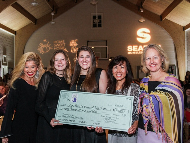Sofia Adrogue', from left, Claire Dorfman,  Sloane Adrogue' Gustafson, Thao Costis and Laurie Dorfman at the SEARCH fashion event March 2014
