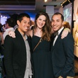 21 David Livasy, from left, Morgan Aven and Daniel Ruszkiewicz at CultureMap fifth anniversary birthday party October 2014