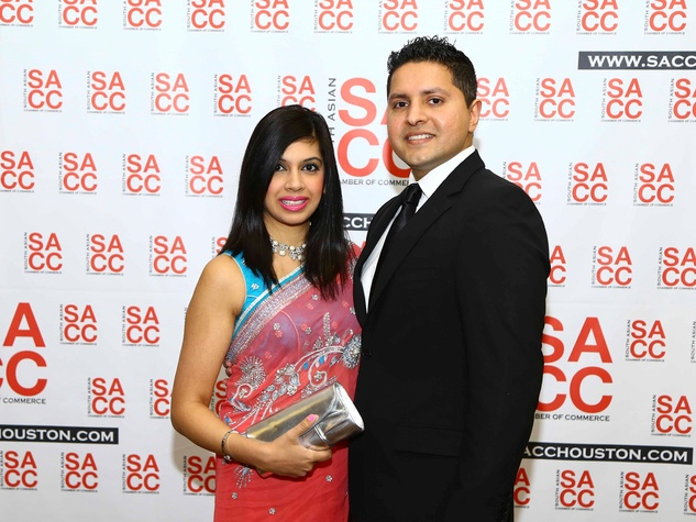 Erum Jivani Gillani and Amin Jivani at the South Asian Chamber Gala February 2014
