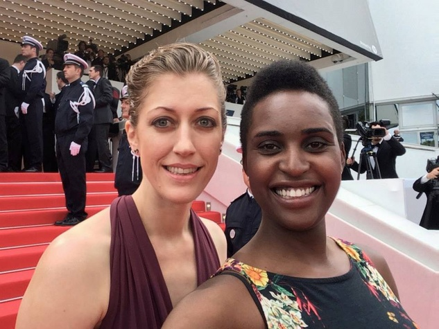 director Annie Silverstein with producer Monique Walton at 2014 Cannes Film Festival