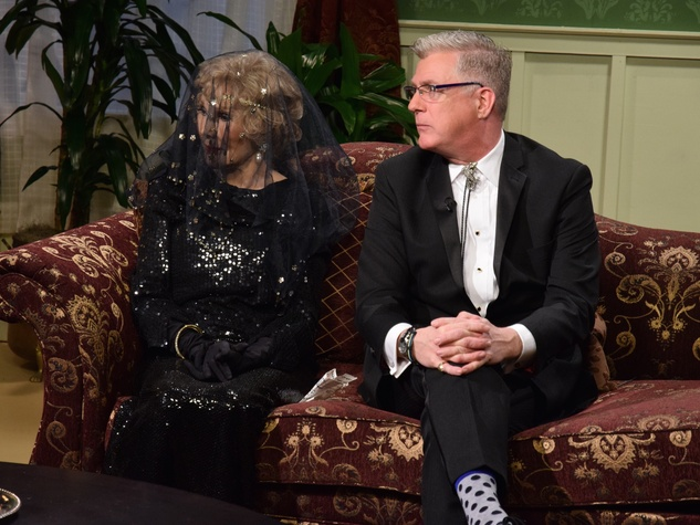 Joanne Herring, St.John Flynn at Manor of Speaking Downtown Abbey final episode