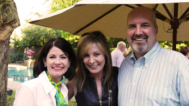 30 Stephanie Brown, left, with Heidi and Greg Armstrong at Cheetah Conservation and The Houston Zoo Event March 2015