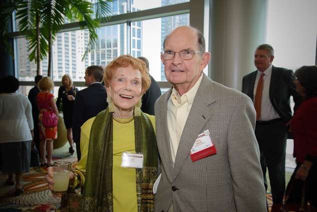 Bebe Gow and Kirby Attwell at the Council on Alcohol and Drugs luncheon May 2014