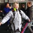 Annise Parker skydiving