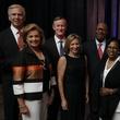 Texas Children's Cancer Center dinner, 5/16 Jim Gordon, Nancy Gordon, Chancellor William H. McRaven, Georgeann McRaven, Jodie Jiles, Sonny Jiles.