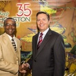 7 Ben White, left, and Jim Tates at the Keep Houston Beautiful luncheon
