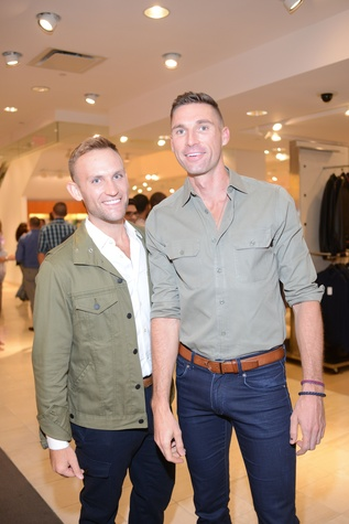 3 Bryan LaFrance, left, and Marcus Gaidaroff at the Neiman Marcus Men's Fall Trend Event September 2014