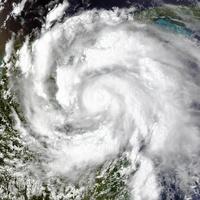 Hurricane Ernesto, aerial