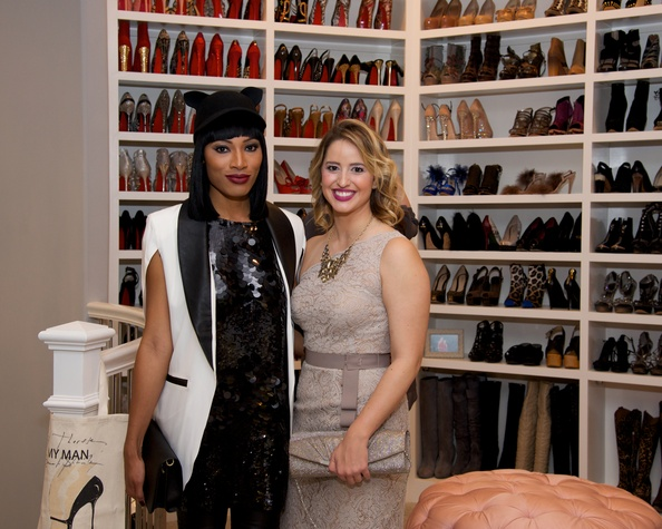 138 Dominique Collins, left, and Lauren Smith at Theresa Roemer first charity closet party November 2014