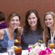 Elizabeth Pagan, from left, Christine Williams and Lesli Giannukos at the Small Steps Nurture & Nourish Luncheon September 2014
