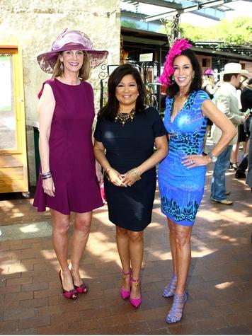 Linda Spina, Clarice Tinsley, News Anchor, FOX 4, Hat Judge; Jocelyn White, mad hatter's tea