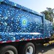 3 art recycling trucks August 2014