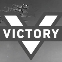 Alamo Drafthouse Victory logo in vintage newsreel