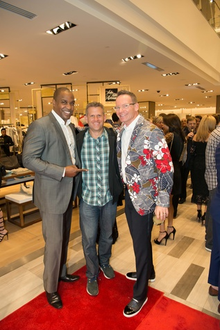 Jay Wayman, John Brenkus, Rob Vaka at Saks Super Bowl party