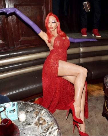 Heidi Klum Jessica Rabbit Halloween costume