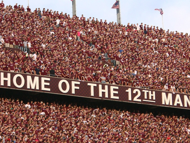 Kyle Field Texas A&M Home of the 12th Man fans in stadium
