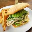 Green chili chicken sandwich