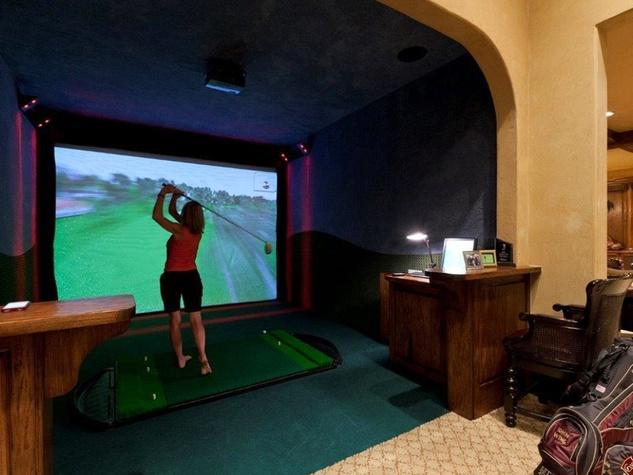 On the Market 15 Grand Regency Circle Enron mansion The Woodlands January 2015 bedroom 3 golf simlator