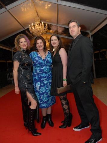 6 4040 Kim Mathews, from left, Sandy Mathews, Kirstin Mathews and Rob Mathews at Club Berlin Baker Institute party November 2013
