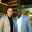 Drew Coleman, left, and Abe Ndoye at Ruggles Black Grand Opening October 2014