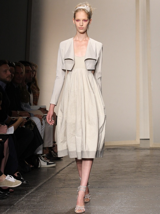 Clifford, Fashion Week spring 2013, Monday, Sept. 10, 2012, Donna Karan, neutral dress