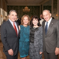 Mark Wawro, from left, Melanie Gray and Ellen and Steve Susman at the Jung Center dinner April 2014