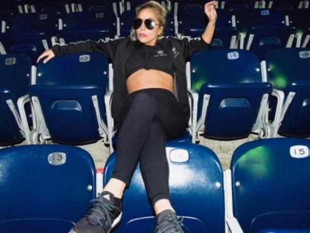 Lady Gaga takes a break in Super Bowl appearance