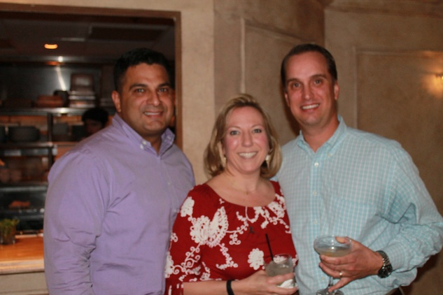 Manny Bonnila, from left, Zilah Miller and Jeff Driskell at the Friends of St. Jude Spring Happy Hour March 2015