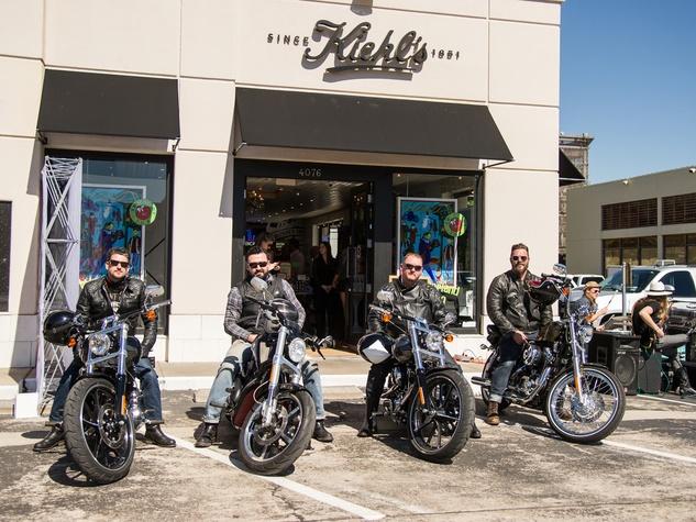 Kiehl's Texas Run at Highland Village October 2013 men on motorcycles outside store