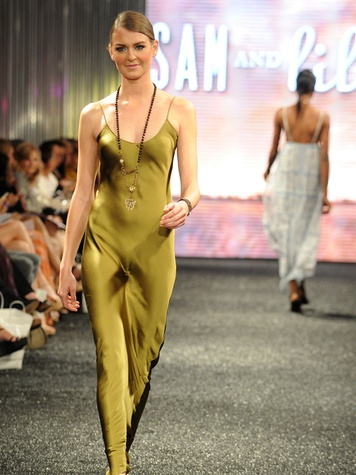 Models on the runway at West Ave Fashion on the Avenue March 2014